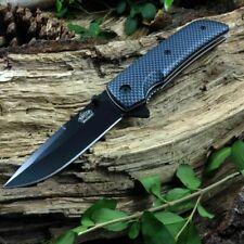 Master Usa Carbon Fiber Style Drop Point Spring-Assisted Folding Pocket Knife