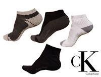 CALVIN KLEIN 3 PAIRS CK LOGO LADIES/MENS WHITE SPORTS ANKLE TRAINER SOCKS  6-11