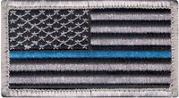 "Thin Blue Line USA Support Police American Flag Patch 1 7/8"" x 3 3/8"""