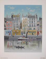 Lithografie Michel Delacroix - Le Canal