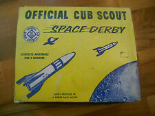 Old Vintage BSA Cub Scout Space Derby Den Group Activity Kit Rockets (Boy Scout)