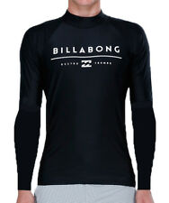 NEW + TAG BILLABONG MENS XL ALL DAY UNITY WET SHIRT RASH VEST LONG SLEEVE BLACK