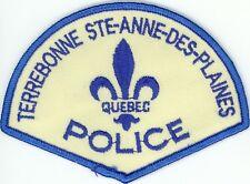 Terrebonne Ste-Anne-des-Plaines Police Quebec, Canada HTF Uniform/Shoulder Patch
