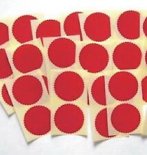 1000 x 50mm Gloss Red Serrated Certificate Wafer Seals, Labels for Awards  etc