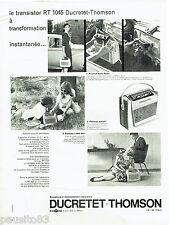 PUBLICITE ADVERTISING 036  1959  Ducretet-Thomson  transistor RT 1045