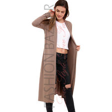 Womens Cheap Long Duster Coat Open Front Viscose Cardigan Jacket Modest Cover up Wine XXL UK 16-18