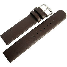 20mm Di-Modell Elegance Mens Brown Leather Untapered German Watch Band Strap