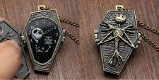 Beautiful Nightmare Before Christmas Coffin Pocket Watch ~ Perfect Gift