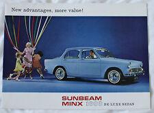 SUNBEAM MINX 1600 De Luxe Sedan 1960 brochure sales catalog CANADIAN MARKET