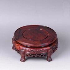 Rosewood Base Round Pedestal Display stand For vase teapot flowerpot 6.7 inch