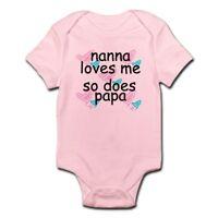 CafePress Nana Loves Me So Does Papa Infant Creeper Baby Bodysuit (67107622)