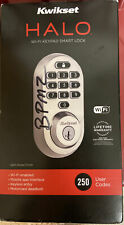 Kwikset Halo Touchscreen Wi-Fi Enabled Smart Lock (Satin Nickel) - Brand New