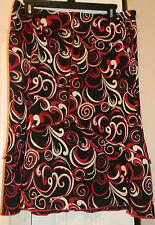 PARALLEL SKIRT RED BLACK AND WHITE SIZE LARGE