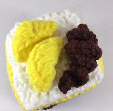 Made In America Stuffed Toy Chocolate & Bananas Napoleon Cake, Handmade Ages 2+