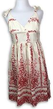 Spicy Girl Womens Summer Dress Casual Tie Straps Floral A-Line Size M NWT