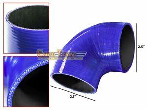 """2.5"""" Silicone Hose/Intercooler Pipe Elbow Coupler BLUE For Porsche / Scion"""