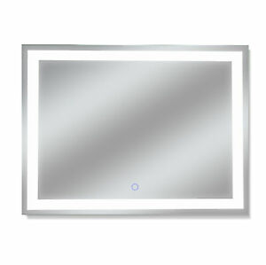 "Dyconn Faucet Edison Tri-Color Backlit Bathroom LED Mirror (48""W x 36""H)"