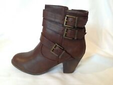 NICE STRAPPY BROWN ANKLE BOOTS BOOTIES SIZE 10M NIB!