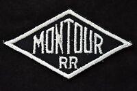 Vintage Railroad Sew On Patch Montour Railroad Pennsylvania Mining Railroadiana