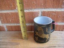 Vintage *** THE BULL TAURUS *** Zodiac Milk Glass Mug by Federal USA