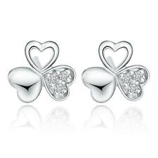 2016 New Europe and America 925 Silver The clover Earrings High-quality Jewelry