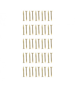 Dolls House 9mm Brass Pins Nails Pack of 50 Miniature 1:12 Scale DIY Hardware