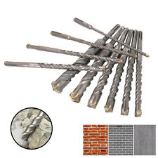 210mm SDS Plus Rotary Hammer Drill Bit Set Round Shank for Concrete 6~25mm 10Pcs