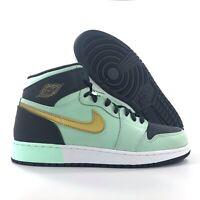 Nike Air Jordan 1 Retro High GG Mint Foam Green Grey Gold 332148-300 7.5Y-8.5Y