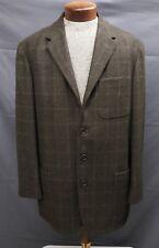 VESTIMENTA wool/cashmere green brown windowpane sport coat blazer EU 50 US 40 42