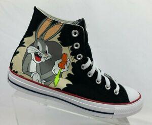 Converse x Bugs Bunny Chuck Taylor All Star HI Top Black NEW 169225F Multi Sizes