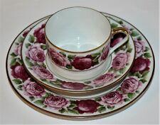 """Royal Limoges """"Rose de Paris"""" Kaffee-/Teegedeck 3-teilig"""