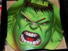 """The Incredible Hulk Glass Wall Clock Avengers Marvel Comics 13"""" Round Face New"""