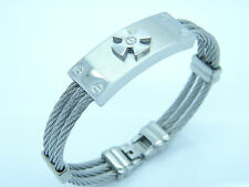 Cross Design Wristband S1 High Quality Handcuff Stainless Steel
