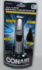 Conair All-In-One Beard Mustache Trimmer Battery GMT175R NEW 11 piece Set M