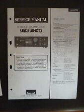 Original Service Manual Sansui Integrated Amplifier AU-G77X