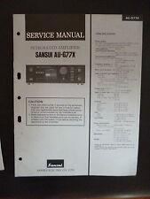 Original Service Manual Sansui Integrated Amplifier AU-G77X
