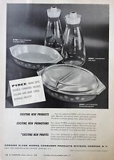 1958 AD(F27)~CORNING GLASS WORKS, CORNING, NY. PYREX SERVING PRODUCTS