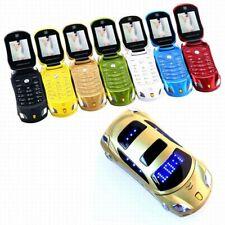 Unlocked Small Cellphone Car model Mini Mobile FM Camera Flashlight Dual SIM