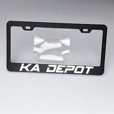 Spy Agency Font Personalized Custom Laser Engraved Black License Plate Frame