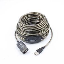 USB 480Mbps 2.0 SEÑAL Active Cable Alargador Adaptador integrada 10m NUEVO