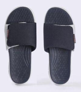 Skechers Mens Equalizer 4.0 Lightweight Slide Sandal Adjustable Navy Mesh 14 M