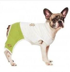 New Martha Camp Stewart Pets Doggy Gym Jumpsuit Pajamas PJ Shirt Clothes Apparel