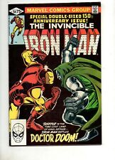 Iron Man #150 SIGNED by MICHELINE & J ROMITA JR! GIANT-SIZE NM 9.4! Dr Doom 1981