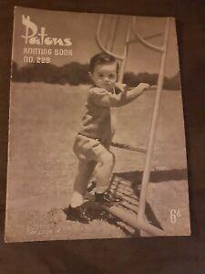 RARE PATONS VINTAGE  baby  KNITTING book PATTERNS no 229