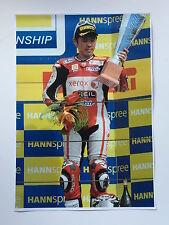 Noriyuki Haga Unsigned Xerox Ducati Poster Rare.
