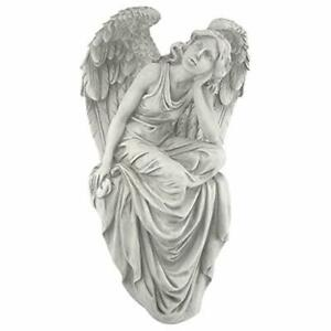 NG33951 Resting Grace Angel Sitting Garden Statue, Large, 47 cm,