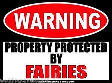 Fairies Funny Warning Sign Bumper Sticker Decal DZ WS500