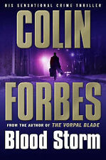 """""""AS NEW"""" Forbes, Colin, Blood Storm, Hardcover Book"""