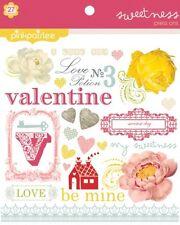 Pink Paislee SWEETNESS Press Ons Love Valentine 6x6 Rub Ons Planner Scrapbook