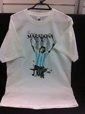 Diego Maradona Print Shirt T-Shirt Football Soccer Medium No 10 Argentina New